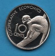 GUYANA 10 CENTS 1976 KM# 39 Squirrel Monkey Singe - Guyana