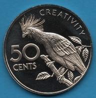 GUYANA 50 CENTS 1976 KM# 41 Hoatzin  Oiseau - Guyana