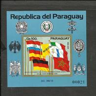 PARAGUAY FLAGS MICHEL BL.214 SPECIMEN MNH VF - Paraguay