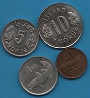 ISLAND LOT COINS 4 MONNAIES 1978 - 1981 - Islande