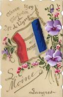 LANGRES Petite Carte CELLULOIDE Classe 1909.Souvenir Du 21 ème De Ligne - Langres