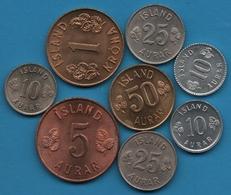 ISLAND LOT COINS 8 MONNAIES 1962 - 1974 - Islande