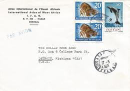 Senegal 1971 Dakar Dolphin Slipper Lobster Scyllarus Arctus Cover - Senegal (1960-...)