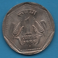 INDIA 1 RUPEE 1984 ♦ KM# 44 Mumbai Mint - Inde