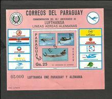 PARAGUAY LUFTHANSA MICHEL BL. 274 SPECIMEN, MNH - Paraguay