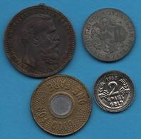 LOT 4 JETONS TOKEN SPIELGELD KRIEGSGELD LOT - Jetons & Médailles