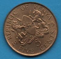 KENYA 5 CENTS 1975 KM# 10 Jomo Kenyatta - Kenya