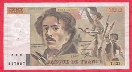"""France 100 Francs """"Delacroix"""" 1987----F/TTB+---ALPH T.122 - 100 F 1978-1995 ''Delacroix''"""