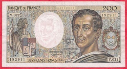 "France 200 Francs ""Montesquieu"" 1984----VG/TTB---ALPH .V022 - 1962-1997 ''Francs''"