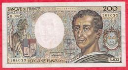 "France 200 Francs ""Montesquieu"" 1985----VG/TTB---ALPH .B.032 - 1962-1997 ''Francs''"