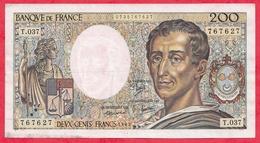 """France 200 Francs """"Montesquieu"""" 1985----F/TTB+---ALPH .T.037 - 200 F 1981-1994 ''Montesquieu''"""