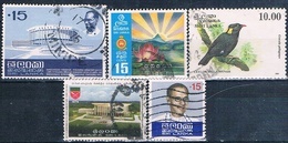 Skri Lanka 1972 / 93  -  Michel  425 + 432 + 437 + 438 + 1036  ( Usados ) - Sri Lanka (Ceylan) (1948-...)