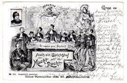 Gerichtshof, Richter, Justitia, Juges, 1898 - Policia – Gendarmería