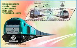 ESPAGNE SPANIEN SPAIN ESPAÑA 2019 NEW SILK ROUTE TO CHINA- NUEVA RUTA DE LA SEDA SET 2V FDC ED 5320-1 MI 5354 YT 5059 - 2011-... Briefe U. Dokumente