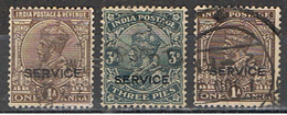 (INA 77) INDIA //  YVERT 79, 83, 86 (TIMBRES SERVICE) // 1927-37 - 1911-35 King George V