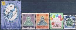 Tailandia 1964 / 2010  -  Michel  423 + 1108 + 1109 + 2870 + 2931  ( Usados ) - Tailandia
