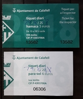 2 TICKETS HAMACA PLAYA. CALAFELL - ESPAÑA.. - Tickets - Entradas