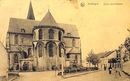 Jodoigne - Eglise Saint-Médard (animée, Edit. R Borlée 1920) - Jodoigne