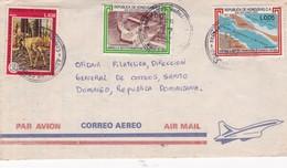 COVER AIRMAIL CIRCULEE CIRCA YEAR 1982 HONDURAS TO REPUBLICA DOMINICANA FULL CONTENT INSIDE - BLEUP - Honduras