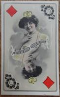 Artiste - ELISE DE VÈRE - Carte à Jouer Dame De Carreaux - Illustrateur REUTLINGER - 466/8 - 2 Scans - Artisti