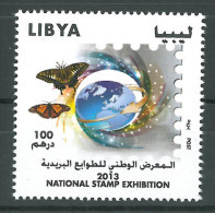 LIBYA 2013 MNH - NATIONAL STAMP EXHIBITION - Butterfly - Stamp Day - Libya