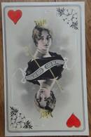 Artiste - CLÉO DE MÉRODE - Carte à Jouer Dame De Coeur - Illustrateur REUTLINGER - 466/7 - 2 Scans - Artisti