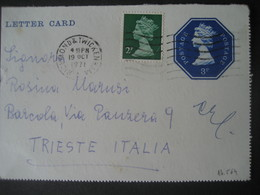 Grossbritannien 1971- Postkarte Lettercard 1971 - Covers & Documents
