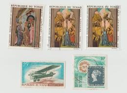 Tchad Lot 5 Timbres Poste Aérienne Peintre Vénitien - Breguet 19 - Année 1970 Mi 338 Et 339 - 1968 Mi 179 - 1971 Mi 342 - Tchad (1960-...)