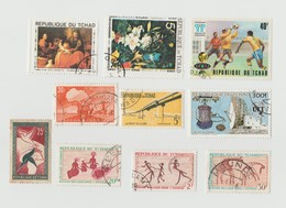 Tchad Lot 10 Timbres: Mi 265 - 286 - 215 - 213 - 190 - 377 A -  63 - 811 - 74 - 1046 - - Ciad (1960-...)