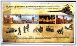 India Miniature MNH 2009, Heritage Railway Stations For Train, Car,  Cycle Rikshaw, Job, Transport, Monuments, - Unused Stamps
