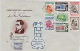 Cuba 1951; Ajedrez Chess Capablanca Full Serie On FDC - Cuba