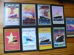 Pocket Calendar Set (9), Old Placards, Ships - Germany - Calendari