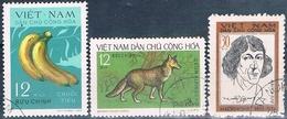 Vietnam Del Norte 1970 / 73  -  Michel  634 + 719 + 725  ( Usados ) - Vietnam