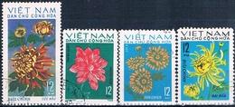 Vietnam Del Norte 1974  -  Michel  756 + 758 + 763 + 775  ( Usados ) - Vietnam