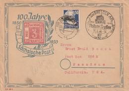 Enveloppe Philatélique De Dresden 1948 - 100 Jahre Sächsische Post - [6] République Démocratique