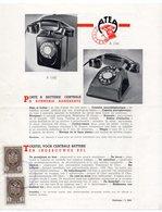 1930s YUGOSLAVIA , BELGIUM, ATEA, TELEPHONE SET, CATALOG SHEET, 2 FISKAL STAMPS, ADVERTISEMENT - Other