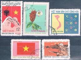 Vietnam Del Norte 1974 / 76  -  Michel  787 + 795 + 822 + 856  ( Usados ) - Vietnam