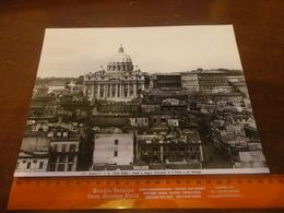 FOTO ALINARI -ROMA -CASTEL S.ANGELO-PANORAMA DI S. POETRO E DEL VATICANO  25X20 CIRCA - Luoghi
