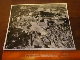FOTO ALINARI -ROMA -PANORAMA CON VEDUTA DI S.PIETRO (NEG.MINISTERO AERONAUTICA-1929-  25X20 CIRCA - Luoghi