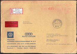 Germany Neustadt 1969 / Car Industry / VW 411 / Volkswagen, Audi / Machine Stamp - Fabbriche E Imprese