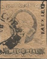 J) 1861 MEXICO, HIDALGO, MEDIO REAL, DISTRICT ORIZAVA, OVAL CANCELLATION, MN - Mexico