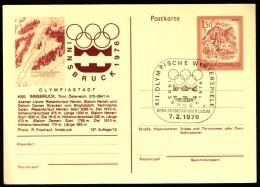 Austria Axams Axamer Lizum 7. 2. 1976 / Olympic Games Innsbruck / Cancel No. 4 - Winter 1976: Innsbruck