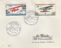 MONACO - LETTRE CACHET MONACO  A  22.5.64 /1 - Monaco