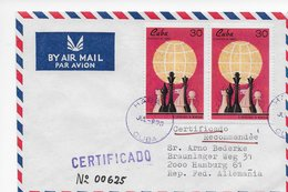 Cuba 1969; Ajedrez Chess Used Cover To Germany + 2x FDC - Cuba