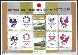 JAPAN, 2019, MNH, TOKYO OLYMPICS , PARALYMPICS, MASCOTS, STADIUMS, SHEETLET - Summer 2020: Tokyo