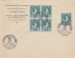 MONACO - LETTRE JOURNEE DU TIMBRE 1948 MONACO 6.3.1948 /1 - Monaco