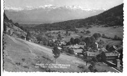 CPSM  Dentelée En PF Et En NB De  MONNETIER  (74)  - Vue  Avec Les Alpes Et Le Mont Blanc    //  TBE - Andere Gemeenten