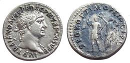 [H] +++ AR Denarius / Denier - TRAJAN -- RIC 212 -- Emperor Reverse -- SCARCE +++ - 3. Die Antoninische Dynastie (96 / 192)
