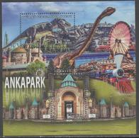 TURKEY, 2017, MNH, ANKAPARK, DINOSAURS, TRAINS, MOSQUES, FERRIS WHEEL, S/SHEET - Trains