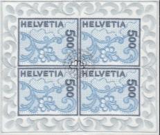 SCHWEIZ  1726, Kleinbogen, Gestempelt, St. Galler Stickerei 2000 - Blocs & Feuillets